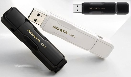 ADATA C801 Flash Drive in black & white
